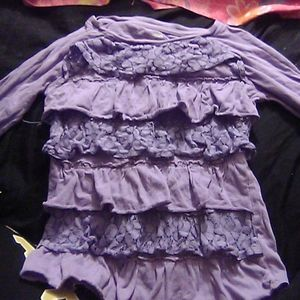 Long sleeve purple shirt